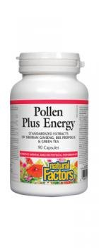 Natural Factors – Bee Pollen Plus Energy, Supports Healthy Energy & Endurance, 90 Capsules