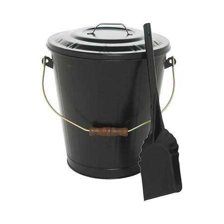 Fireplace Accessories Black Ash Container & Shovel Set 73110