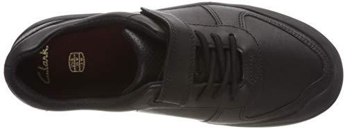 Clarks K Verve Leather black Zapatillas Rock Negro Para Niños qqpnrz1Ewx