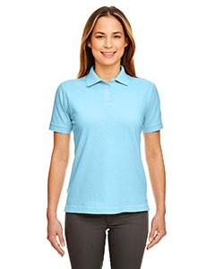 UltraClub Womens Classic Pique Polo (8530) -BABY BLUE -