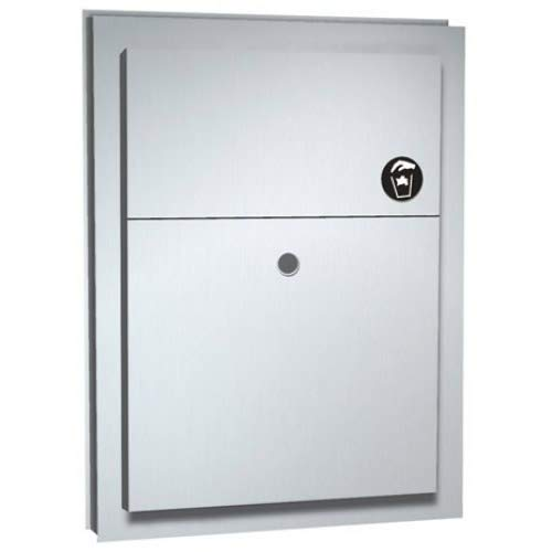 ASI 0472-1, Sanitary Napkin Disposal (Dual Access) with Lock, Partition Mounted