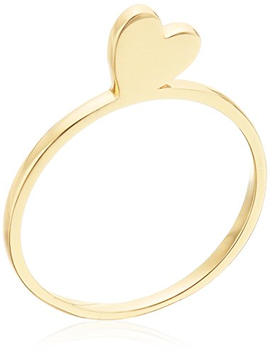 14k Gold Standing Heart Ring