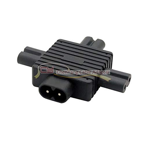 Computer Cables IEC 320 Figure 8 C8 Male to 3X Female C7 Splitter Power for Power Supply 1 in 3 Out Adapter pw-120 - (Cable Length: Adapter) ()