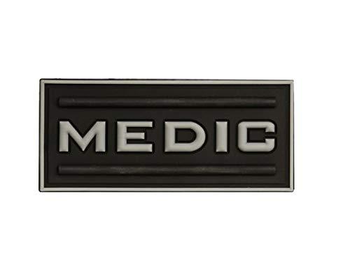 Morton Home-Medic Rubber 3D PVC Paramedic Tactical Morale Patch (Black)