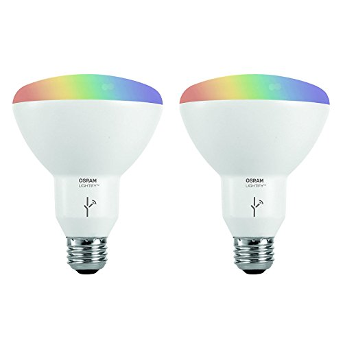 - Sylvania Osram Lightify Smart Home 65W BR30 White/Color LED Light Bulb (2 Bulbs)
