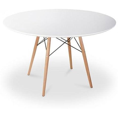 Mesa DSW 100cm Charles Eames Style - Madera: Amazon.es: Hogar