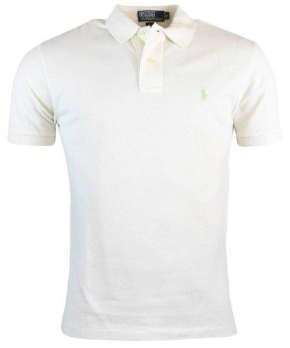 Polo Ralph Lauren Mens Classic Fit Mesh Polo Shirt - L - Cream