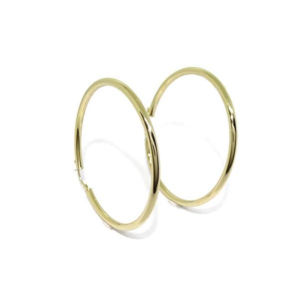 Pendientes aros de oro amarillo de 18Ktes de 3mm de ancho por 5.5cm de diámetro exterior. Pendientes aros de oro amarillo de 18Ktes de 3mm de ancho por 5.5cm de diámetro exterior. Pendientes aros de oro amarillo de 18Ktes de 3mm de ancho por 5.5cm de diámetro exterior.
