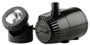 Geo Global Partners pf420asl 419GPH fuente estanque bomba Plus con poca luz interruptor automático de agua característica