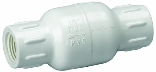 Homewerks VCK-P40-B3B In-Line Check Valve, Female Thread x Female Thread, PVC Schedule 40, 1/2-Inch