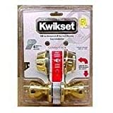 kwikset double keyed door knob - Kwikset 695 Polo Entry Knob and Double Cylinder Deadbolt Combo Pack in Antique Brass