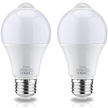 Leke Motion Sensor Light Bulb 12w With Pir Motion Sensor