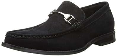 Stacy Adams Men's Flynn Slip-On Loafer,Black Suede,7 M US