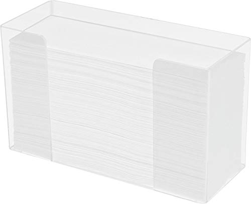 Cq acrylic Paper Towel Dispenser, Acrylic Paper Towel Holder,Clear Acrylic, 11.5 x 6.75 x 4.2 Inches