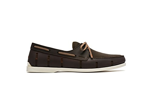 SWIMS Mens Boat Loafers Brown/Cream W0p2Sn4