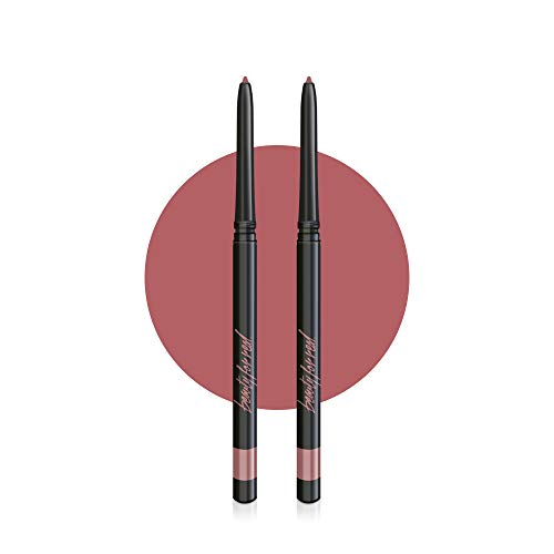 0.12 Ounce Lip Pencil - Beauty For Real D-Fine Lip Liner Pencil Set of 2, Neutral, Universal Color Works For All Skin Tones With Any Lip Color, No Sharpener Required, Cruelty Free, 2 x 0.12 oz