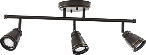 Fixed Track (Lithonia Lighting LTFPMILL MR16GU10 27K 3H ORB M4 LED 3 Head Peppermill Fixed Track Kit, 21W, Oil-Rubbed Bronze, Brushed Nickel)