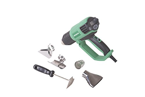 Hitachi RH650V Heat Gun, Variable Heat and Fan Settings, LCD Display, For Crafts, Shrink Wrapping, Paint Removing, Tubing, Includes Glass Protector Nozzle, Spreader Nozzle, Hook Nozzle, Concentrator Nozzle, Handheld Scraper, Storage Case