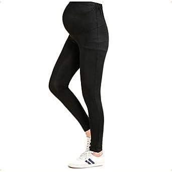 81c7fcbf09b44b Bold N Elegant Women's Black Comfortable Maternity wear Summer Pregnancy  Belly Leggings with Adjustable Elastic Waist