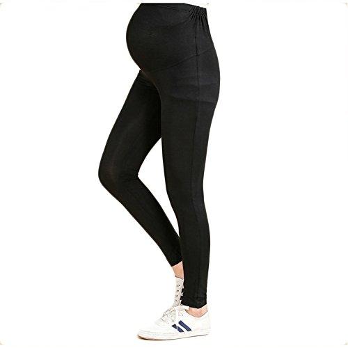 fca2b365161 Bold N Elegant Women s Black Comfortable Maternity wear Summer Pregnancy  Belly Leggings with Adjustable Elastic Waist