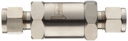 Parker F Series Stainless Steel 316 Instrumentation Filter, Inline, 50 Micron, 1/4'' A-Lok Compression Fitting by Parker (Image #2)