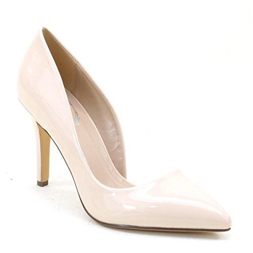 Women's Pointy Toe High Heels Bridal Evening Wedding Pump Shoes Nude 6