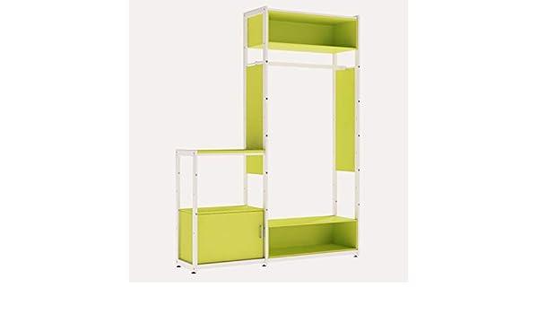 Armario de dos caras profesional para la tienda, armario, armario, decoración, tiendas, autoportante, componible, perchero móvil, color verde: Amazon.es: Bricolaje y herramientas