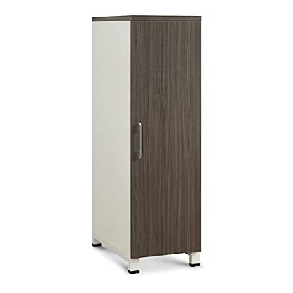 Ordinaire Element Wardrobe 51u0026quot;H Driftwood Laminate Door/White Laminate Sides