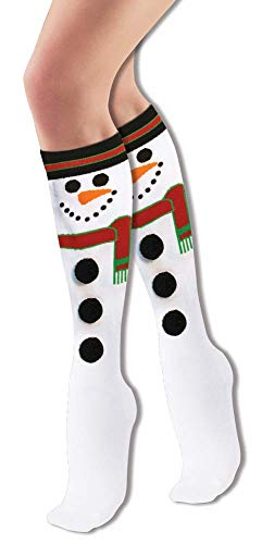 Forum Novelties Women's Adult Christmas Socks, Snowman, One Size (Gifts Snowmen)