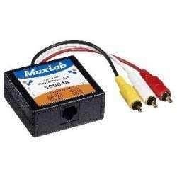 MuxLab 500048 Stereo AV/IR Pass-Thru Balun, Male