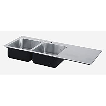 Superbe Just Manufacturing SI3049AR3 Just Mfg Sink Insert, Drop In, Double Bowl,  Single Drainboard