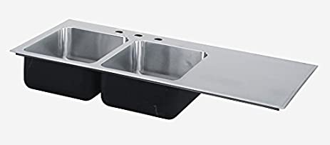 Perfect Just Manufacturing SI3049AR3 Just Mfg Sink Insert, Drop In, Double Bowl,  Single Drainboard