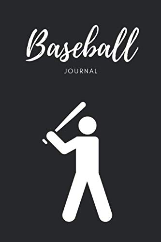 """Baseball Journal: Composition Diary Notebook Novelty gift for Baseball lover,6""""x9"""" lined blank 100 pages,white papers,Black cover"""