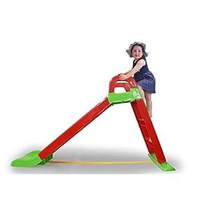 Jamara 460501 Funny Slide – Tobogán (Antideslizante, con Asas de Seguridad), Color Rojo