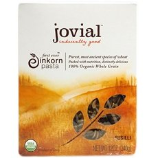 Jovial 100 % Organic Whole Grain Einkorn Fusilli 24x 12Oz by Jovial