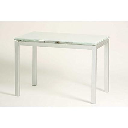 Mesa cocina extensible Andrea - blanco: Amazon.es: Hogar