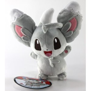 Pokemon Center Official Nintendo Black And White Plush Stuffed Toy - Chillarmy/Minccino