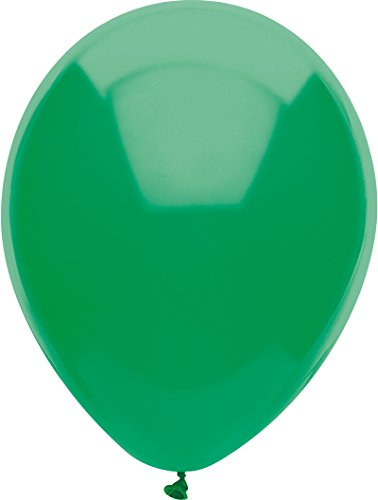 PartyMate 72132 Made in the USA Royal Rich Color 12-Inch Latex Balloons, 15-Count, Forest Green