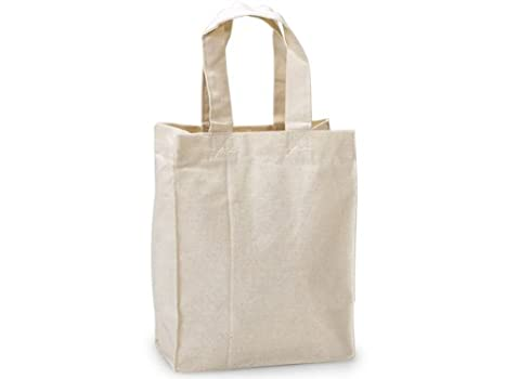 Amazon.com: Mini - Bolsas de lona de algodón reutilizables ...
