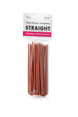 Marilyn Fayes U-Shaped Straight Hair Pins - 2.5in (Set of 12)