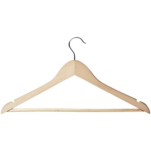Solimo 12 Piece Wood Hanger Set, Natural