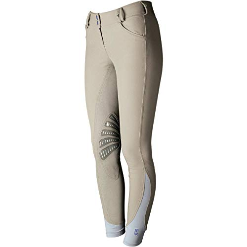 Tredstep Ladies Azzura Pro Knee Patch Riding Breeches 24 inch tan