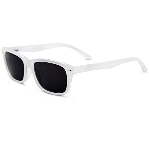 In Style Eyes Seymore Wayfarer Reading Sunglasses, NOT Bifocals White - Sunglasses Men For Prescription