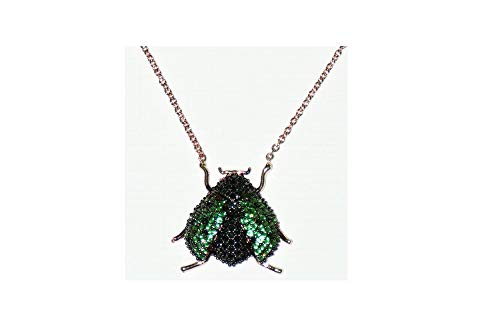 (Turkish Handmade Micro-Pave Beetle Necklace (Color 1))