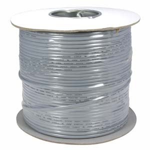 InstallerParts 1000 Ft UL 4 Conductor Silver Modular Cable Reel 26AWG by InstallerParts