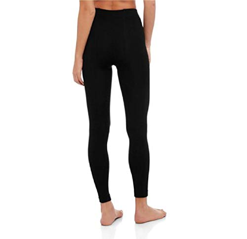 a9966d4925244 SECRET TREASURES Women's 2-Pack Footless Fleece Tights Solid Black SIZE  L/XL at Amazon Women's Clothing store: