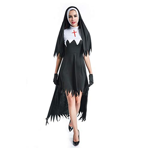 Dora Bridal Costume Dress for Women Halloween Witch Cosplay Gal Skirt Longuette with Gloves ()