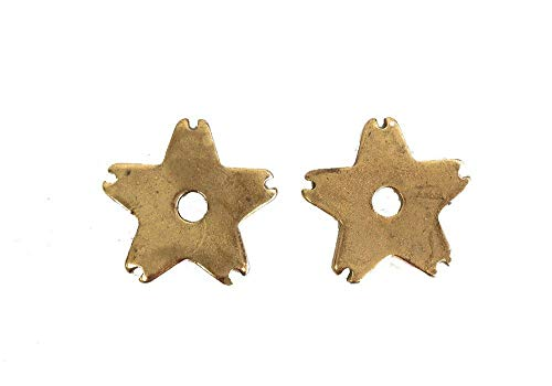 AJ Tack Wholesale Replacement Spur Rowels Solid Brass 1 1/4 Inch Sold in Pair 5 Point Notched