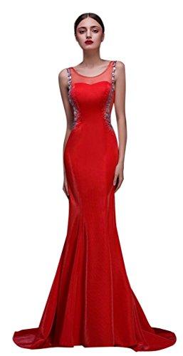 Kleid Damen Drasawee Rot Cocktail Rot qHx7O1