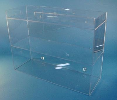 S-Curve LS-2418 Acrylic Laboratory Storage Shelf with 3 Shelves, 1/4'' Thickness, 24'' Width, 18'' Height, 8'' Depth, Clear